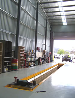 New large workshop and service depot Sout Pambula