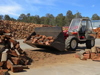 Buld fire wood transport and storage